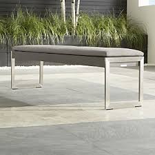 Garden Bench With Cushion Bench Cushions Crate And Barrel