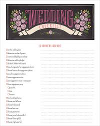 of honor planner sle wedding planning checklist 6 exle format