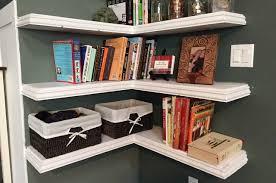 White Bedroom Corner Shelves Uncategorized White Corner Bookshelf Floating Wall Shelves