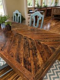 Build A Wooden Table Top by Best 25 Plank Table Ideas On Pinterest Diy Table Legs Kitchen