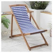 Tesco Armchairs Buy Wooden Garden Deck Chair Blue U0026 White Stripe From Our