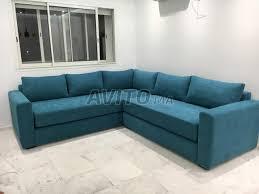 canapé neuf canapé l neuf velours rasé bleu à vendre à dans meubles et