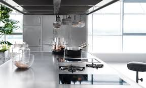 italian designed ergonomic and hygienic stainless steel kitchen