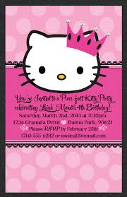 hello kitty princess birthday invitation party pinterest