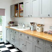 Yellow Kitchen With White Cabinets - grey kitchen walls with black appliances light white cabinets