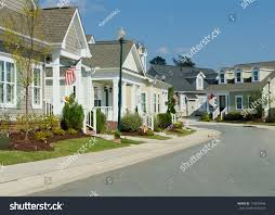 cottage style homes residential cottage style homes stock photo 114870946