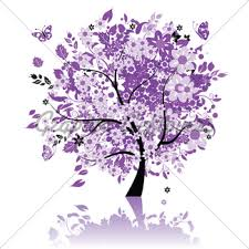 floral tree silhouette black gl stock images