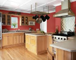 red paint for kitchen home design