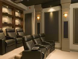 Living Room Speakers Interior Home Theater Room With Victorian Theme Has Large Screen