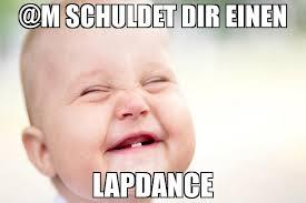 M Meme - m schuldet dir einen lapdance meme grinse 75622 memeshappen