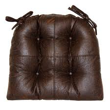 Leather Chair Cushions And Pads Faux Leather Brown Chair Pad At Home At Home