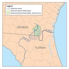 Alligators In Georgia Map Okefenokee Swamp Location Comic Vine