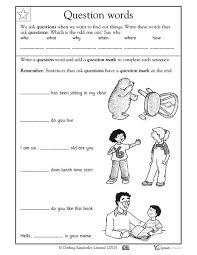 question words 2nd 3rd grade worksheet lesson planet