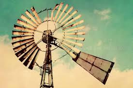 vintage windmill photo rustic farmhouse photography aqua