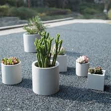 round and square cement flower pot silicone mold home decoration