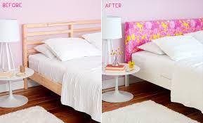 Upholstered Headboard Bed Frame Diy Upholstered Headboard Emily Henderson