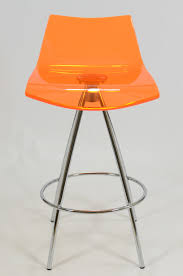 monaco acrylic bar stool orange 8 cool lucite bar stools