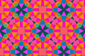 geometric pattern in bright color patterns creative market