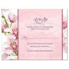 Invitation Acceptance Cards Orchid Wedding Rsvp Card Elegant Pink Burgundy
