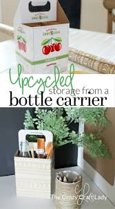 How To Make Desk Organizers by Cardboard Bottle Carrier Craft The Crazy Craft Lady