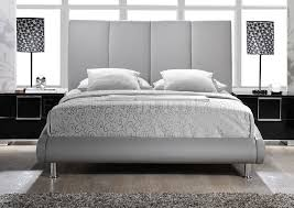upholstered bed in grey leatherette by global