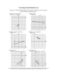 the two step transformations old version all math worksheet