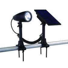 light pole home depot furniture hton bay solar black outdoor integrated led landscape