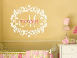 Monogram Wall Decals For Nursery Wall Decals Nursery Monogram Wall Decal Baby Name Decals Coral