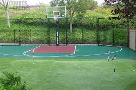 Basketball Court In The Backyard Basketball Courts Fresno Courts And Greens