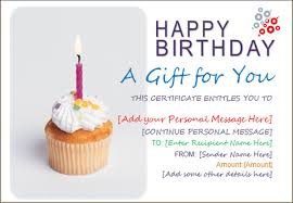 7 birthday gift card templates design templates free