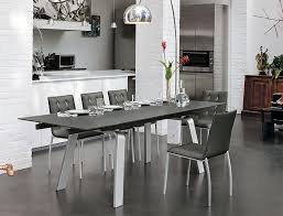 glass and metal dining table target point contemporary marte 160 extending glass and metal dining