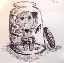 voodoo doll in jar by katieg artlover on deviantart