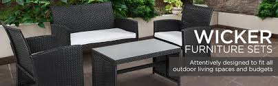 Heavy Duty Patio Furniture Sets Best Choice Products 4 Wicker Patio Furniture Set W