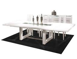 Black Glass Boardroom Table White Lacquer Modern 84