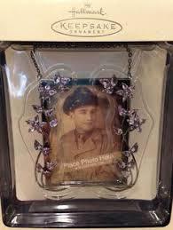 hallmark family tree photo frame holder ornament by glass