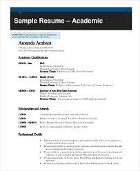 Template For Academic Resume 8 Academic Curriculum Vitae Templates In Word Free U0026 Premium