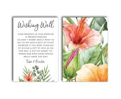 Wedding Registry Cards For Invitations Wishing Well Registry Cards