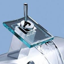 Bathroom Faucets Waterfall Marvelous Glass Bathroom Faucets With Waterfall Bathroom Faucet