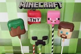 the mindboggling world of minecraft cake pops seven little monkeys