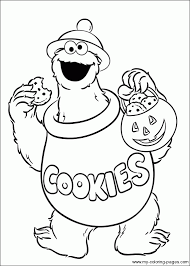 cookie monster coloring getcoloringpages