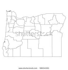 oregon county map oregon county map stock images royalty free images vectors