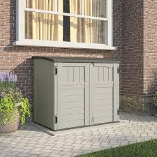 Lifetime 60012 Extra Large Deck Box Instructions by Amazon Com Suncast Bms2500 Horizontal Storage Shed Storage