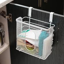 kitchen cabinet door storage racks 2017 new arrival seamless hanging basket kitchen cabinet door