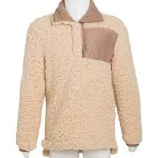 kid u0027s warm u0026 cozy sherpa pullover tan closeout