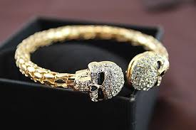skull crystal bracelet images Prestige skull x crystal bangle jpg