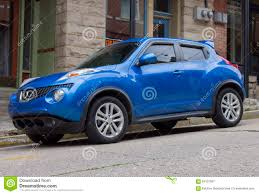nissan sedan 2015 2015 nissan juke sedan blue stock photo image 59107097
