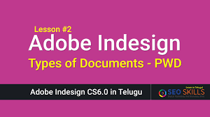 types of documents in adobe indesign indesign in telugu youtube