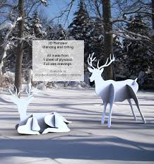 Christmas Reindeer Yard Decorations by Yard Art Decorations Christmas Reindeer At Woodworkersworkshop Com