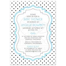 baby shower frames baby shower invite chic retro black white polka dots blue
