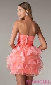 strapless party dress la glo short prom dress promgirl